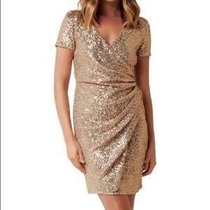 Forever New Gold sequin dress
